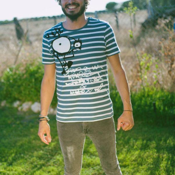 camiseta rayas hombre bichobichejo keka gaia moda ecológica